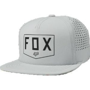Lippis__Fox_Shielded_Snapback__Harmaa